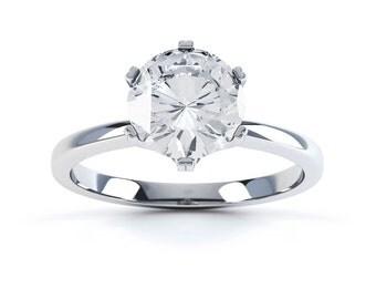 Arya 18ct White Gold Round Solitaire Diamond Engagement Ring 0.5ct