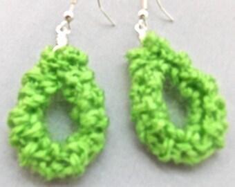 Teardrop Knitted Earrings