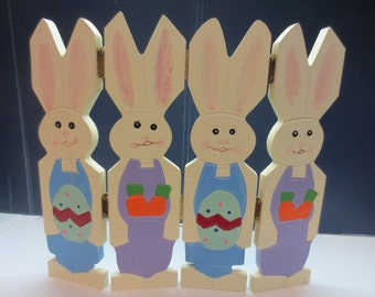 Adorable Screen of Hinged Bunnies   #00160