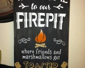 9 x 18 Wooden Firepit sign