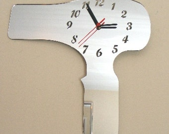 Hairdryer Clock Mirror  2 Sizes Available