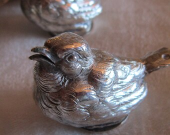 Vintage French Sterling Bird Salt and Pepper Shakers
