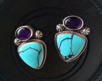 Vintage Native American earrings
