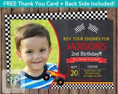 Monster Truck Birthday Invitation, Monster Truck Photo Birthday Invitation, Printable Monster Truck Invitation, Free Truck Thank You Card