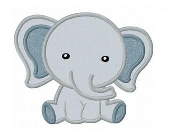 Elephant Baby Applique Machine Embroidery Design NO:0155