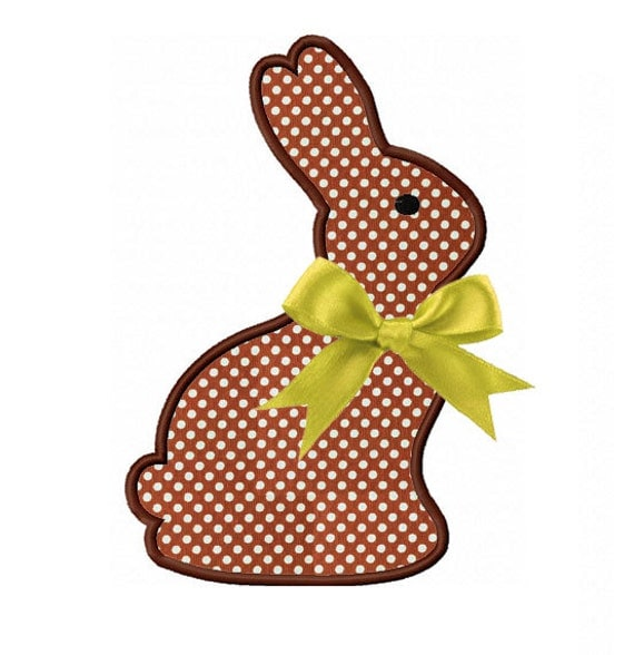 Items similar to easter bunny applique machine embroidery