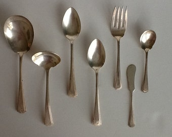 Vintage silverplate serving set