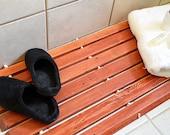 Reclaimed Wood bath mat, Wooden Spa Mat, Luxury Bathroom Decor