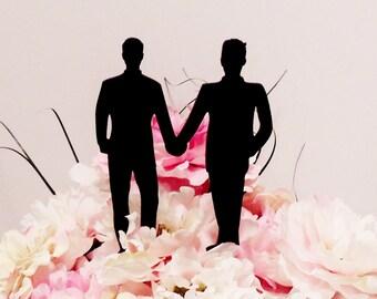 Fashion Forward Gay Men Wedding Cake Topper