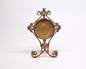 Victorian gold plated brass pocket watch stand, holder