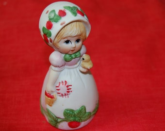 Vintage Strawberry Patches Figurine Bell