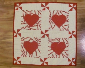Holiday Hearts and Candy Quilt