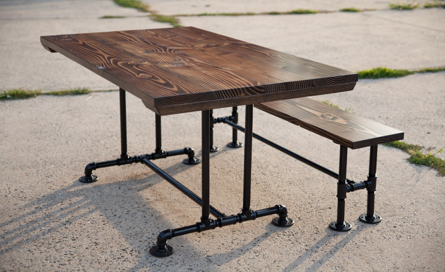 5ft industrial style farmhouse table farmhouse dining table - Industrial kitchen tables ...