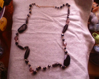 Gold and Black Bead Necklace