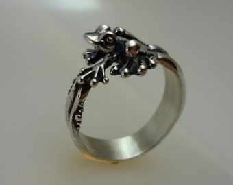 Bubble Frog Ring. Handmade in Sterling Silver or 14k Gold