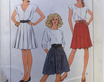VINTAGE 1987 Simplicity 8439 Misses' SKIRTS Pattern sz 12 UNCUT