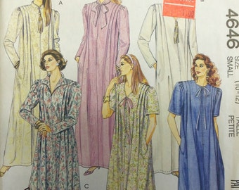 VINTAGE 1989 McCall's 4646 ROBE Pattern sz Small 10-12 UNCUT