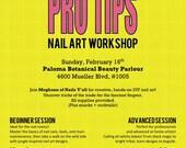 PRO TIPS Nail Art Workshop: Advanced Session