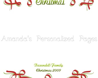 12x12 1-page Personalized Scrapbook  Paper (Christmas 6)