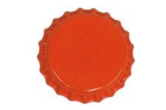 Orange Oxygen Barrier Beer Bottle Caps 144 Count