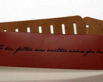 Custom Guitar straps. Personalized Guitar Straps, Guitar Straps, custom leather guitar straps, Walnut colour