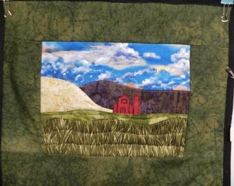Farm Accidental Landscape wall hanging 13x15