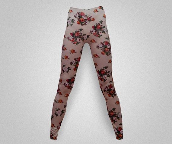 Items Similar To Floral Print Leggings/yoga Pants On Etsy