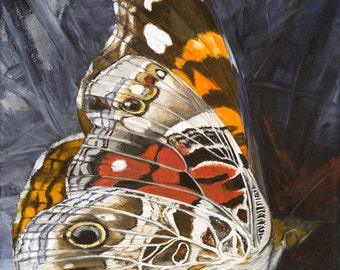 Painted Lady Butterfly giclée print of original acrylic painting