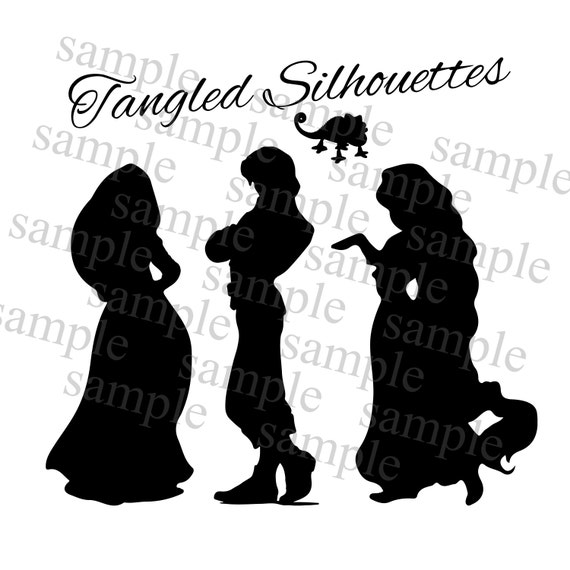 Items similar to Tangled Rapunzel Silhouette, Tangled ...
