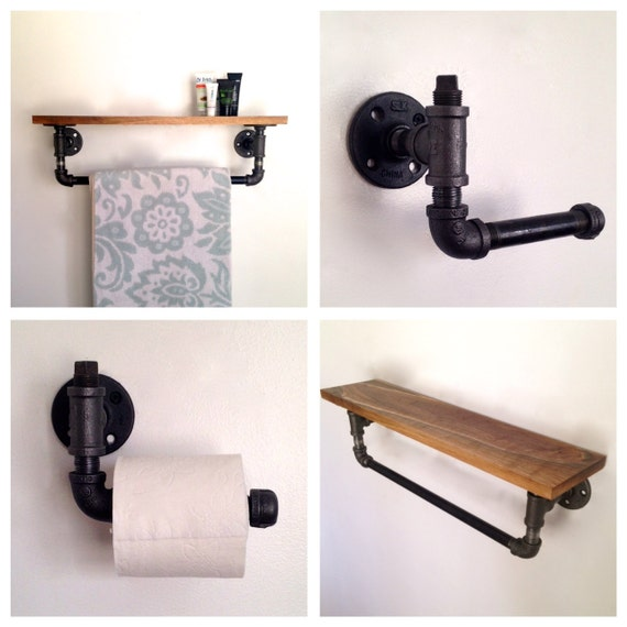 Items similar to amber street bathroom set towel rack - Bathroom towel holders accessories ...