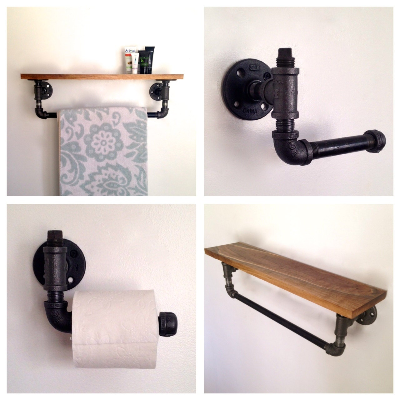 Amber street bathroom set towel rack toilet by for Bathroom holder sets
