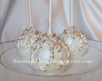 12 Elegant Gold Oreo Pops (large) / Baptism Favor/ Wedding Favor/ Oreo Truffle Pops / Cake  Pops by The Sweetest Thing Designs & Events