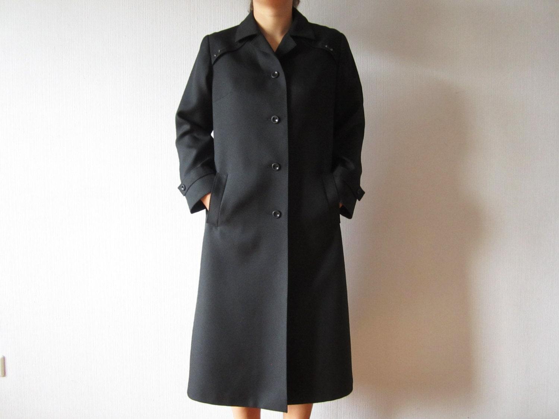 Black overcoat women