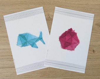 Printed art // 6 postcards set // Water color // Greeting cards