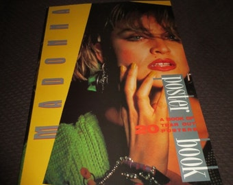Vintage Rare 1986 Madonna Poster Book , mint condition , 20 posters , biography
