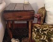 Repurposed Fruit Crate Table