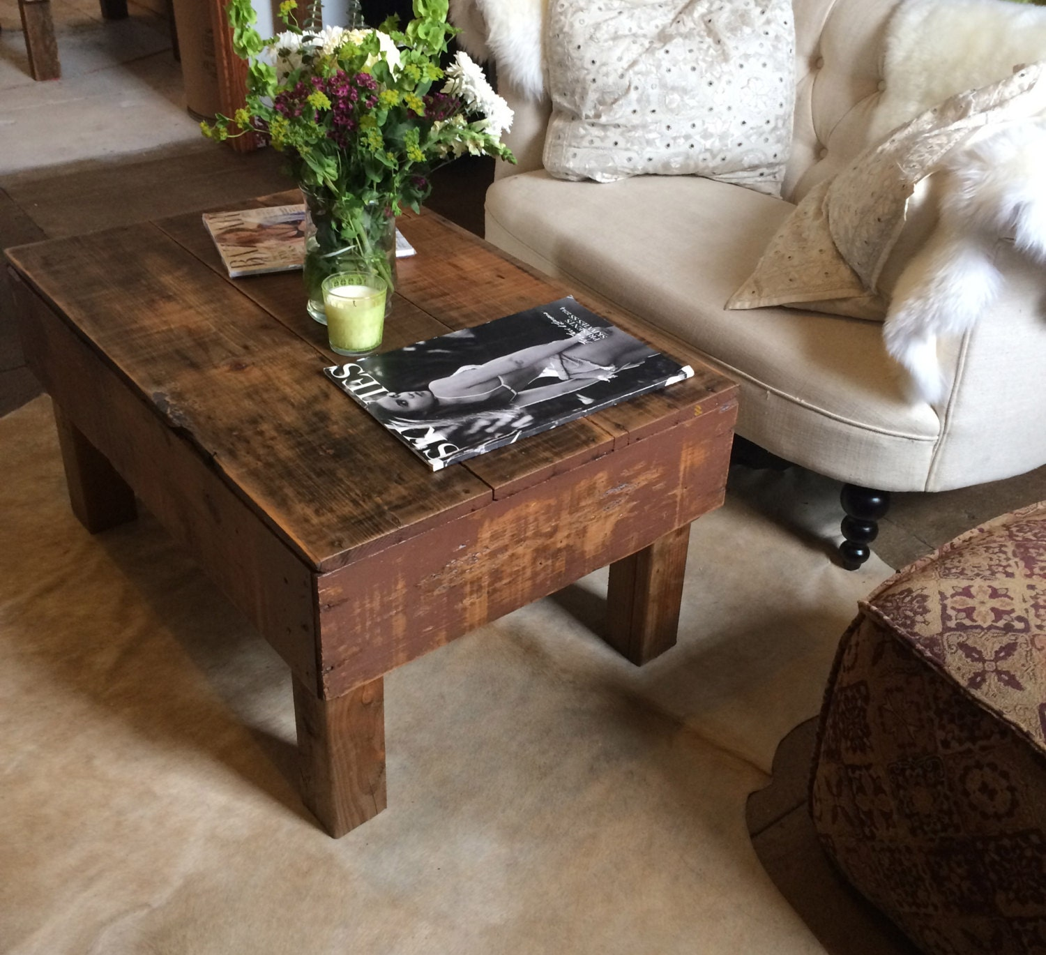 Vintage Crate Coffee Table. Each Table Is Unique By