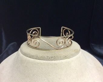 Vintage Swirl Cuff Bracelet