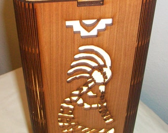Kokopelli Lamp - Kokopelli Western Motif Laser Cut Lamp