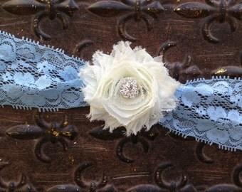 Something Blue Wedding Garter,Wedding Garter, Aqua Wedding Garter, Blue Lace Garter, Ivory Wedding Garter, Blue Bridal Garter, Toss Garter