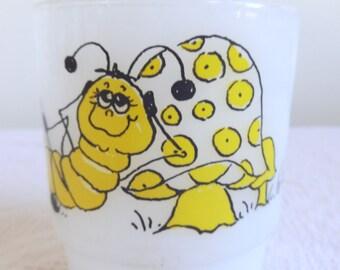 Hildi Caterpillar  Fire King Anchor Hocking Mug