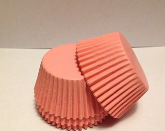 50 count - Grease Resistant Light Pink standard size cupcake liners/baking cups