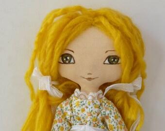 Art Doll ,Small doll, OOAK, cloth doll