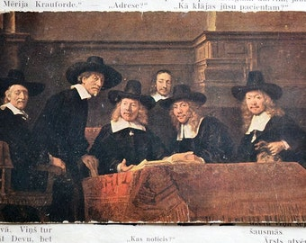 Germany old postcard artist Rembrandt.