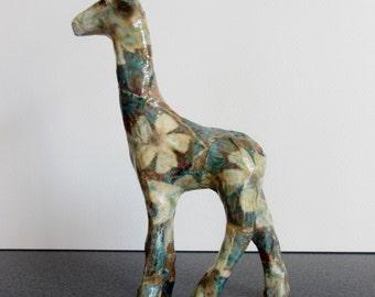Papier Mache Giraffe.