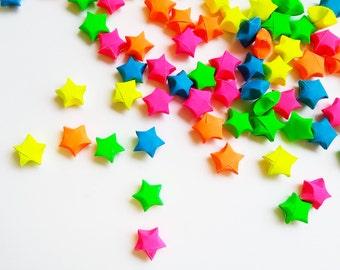 Origami Lucky Stars - 100 Flourescent Neon.