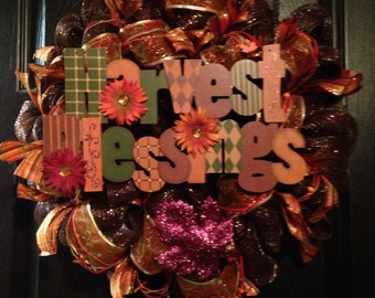 Harvest Blessings Wreath