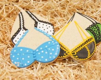 Hand Decorated, Homemade Bikini Lingerie Cookies