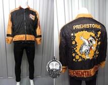 Vintage 90s Fred Flintstone Waterproof Coat Raincoat Anorak Jacket Pebbles Flintstone The Flintstones Waterproof Fabric 90s Cartoon Retro