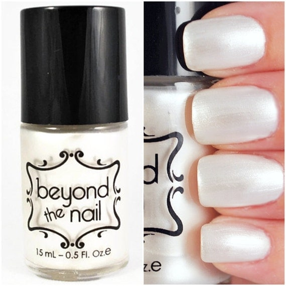 Pearl white nail polish